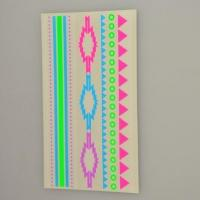 China Custom florescent colorful neon temporary body tattoo sticker supplier on sale