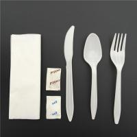 China Cutlery Set GC14 Plastic cutlery set with napkin and plates on sale