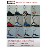 China manufactory silicone unique designs 3d sports shoes keychain jordan sneaker keychains PL1604-8-10 on sale
