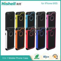 China 3 in 1 Football Grain Combo Mobile Phone Case for iPhone 6 wholesale