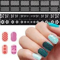 Buy cheap New Nail Art Stencil Sticker Sheet Nail Art DIY Template Sticker NK01-24 from wholesalers