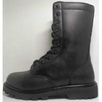 China Shinning Leather Military boots wholesale