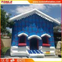China Christmas Cottage inflatable bouncy castle/Christmas Cottage inflatable jumping bouncer for sale wholesale