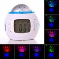China LED Starry Sky Projection Calendar Thermometer Music LCD Digital Alarm Clock wholesale