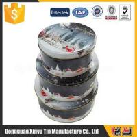 China 3 sets Chrismas cookie tin box,biscuit cookie box packaging wholesale