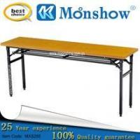 China Dinning hall furniture school and restaurant folding dining table MOONSHOW morden furniture wholesale