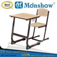 China Tables wooden adjustable study table and chiar for school furniture wholesale