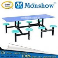 China Dinning hall furniture wooden eight seats Dining table set ,MOONSHOW home furniture wholesale