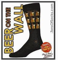 China Men's Beer On The Wall Socks (Black) (Final Sale) wholesale