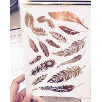 Buy cheap Crystal Sticker Metal Gold Silver Color Tattoo from wholesalers