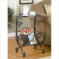 China Coaster Metal and Glass Accent Table, with Storage wholesale