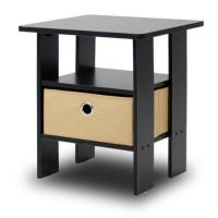China Furinno 11157EX/BR End Table Bedroom Night Stand w/Bin Drawer, Espresso/Brown on sale