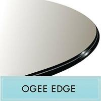 China 60 Round Tempered Glass Table Top 1/2 Thick Ogee Edge wholesale