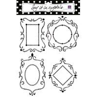 China Crystal Sticker Decorative Crystal Sticker Photo Frame wholesale