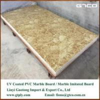 China UV coated PVC marble texture sheet for wall panel wholesale