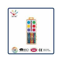 China WATER COLOR 12 Watercolor & Crayon Set In Shrink Wrapped wholesale
