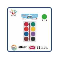 China WATER COLOR 8 Watercolor Set In Polybag With Hanging Card wholesale