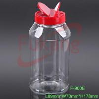China PET Plastic Spice Bottles unique Plastic Spice Bottles Jars with a red polypropylene u wholesale