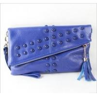 China Blue and brown leather purse onsale wholesale