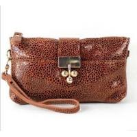 China women leather purses with flowers wholesale