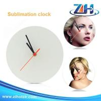 China Sublimation blanks Blank sublimation wall glass clock on sale