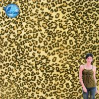 China Quality Guaranteed Fabric Weft Knitted Pique Mesh Leopard Printed Organic Cotton Fabric Wholesale on sale