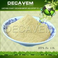 China DTPA Fe, DTPA Iron chelated micronutrients fertilizer, yellow brown powder, Ferric 11% wholesale