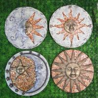 Decorative Sun and moon face stepping stone