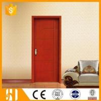 China Great pattern carved solid wooden pine study door design on sale