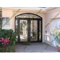 China iron doors with sidelights,exterior double doors with sidelights wholesale