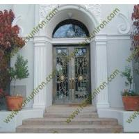 China entry doors wrought iron door with transom wholesale
