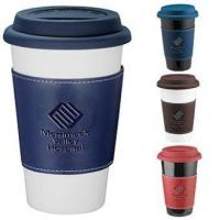 China Double Walled Ceramic Tumbler With Wrap wholesale