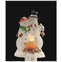 China Snowman Campfire Scene Night Light wholesale