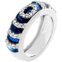 China Navy Blue Enamel Ripple Ring wholesale