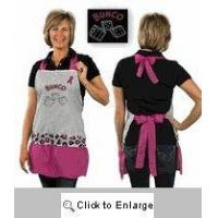 China Buy a crystal dice bunco pink ribbon apron for your bunco fundraiser prize! on sale