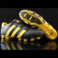 Quality Lastest Adidas Football Boots adiPURE III TRX FG Black Gold Cleats for sale