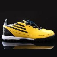 Quality Messi adidas F50 Yellow adizero Leather TRX TF Soccer Cleats for sale