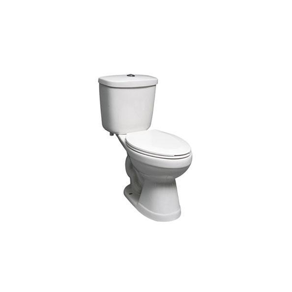 15 INCH ELONGATED TOILET 3 INCH FLAPPER 6L White Images View 15 INCH ELONGATE