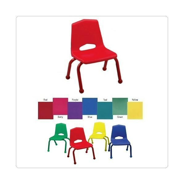 6 Preschool Chairs 10 Inch Solid Chair Color Choice Ball Glide RS 1100 10