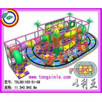 China Indoor castle with electrical toy train around wholesale