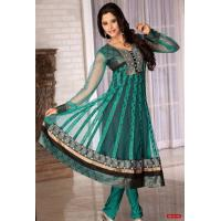 Buy cheap Green Color Churidar kameez from wholesalers