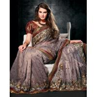 Buy cheap Light Purple Color Designer Saree Online from wholesalers