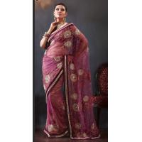 Buy cheap Light Blue Color Net Sarees from wholesalers