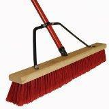 Harper Brush Works 24-Inch Heavy Duty Border Push Broom 583124A-1