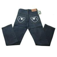 China Bape A Bathing Ape Navy White Mens Jeans wholesale