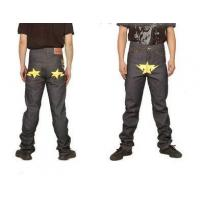 Buy cheap Bape A Bathing Ape Yellow star Grey Mens Jeans from wholesalers
