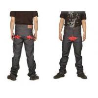 Buy cheap Bape A Bathing Ape Red star GreyMens Jeans from wholesalers