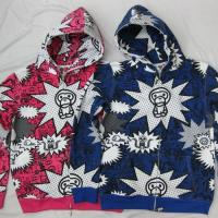 Quality Bape Three Baby Milo Hoodies - pink / Blue for sale