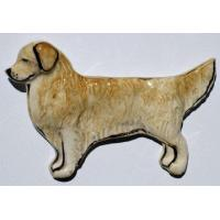 China Golden Retriever Ceramic Dog Pins wholesale