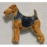 China Airedale Terrier Ceramic Dog Pins wholesale